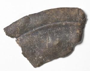 Del av metallspegel funnen pŒ Stora Romlet, Obbolahalvšn, UmeŒ.